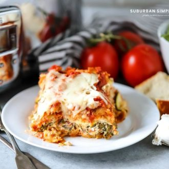 Packed with vegetables and creamy cheese, this easy Crock Pot Vegetable Lasagna is a crowd-pleaser. Choose your favorite combination of vegetables and make this today.
