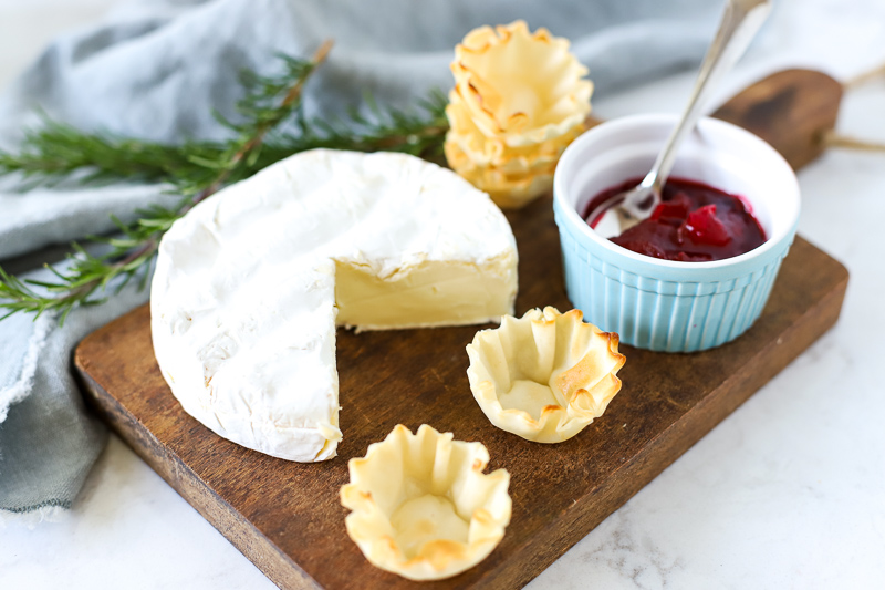 Ingredients for Cranberry Brie Bites