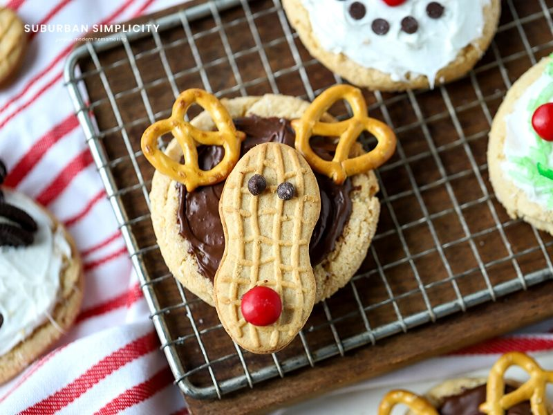 Rudolph sugar cookie