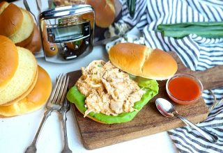 CrockPot Buffalo Chicken is a delicious combination of your favorite hot sauce, a creamy base, and chicken that is ideal for sandwiches, wraps, and top salad greens. This healthier version gives you a great flavor without the guilt of a high-fat meal.