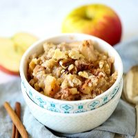 Slow-cooked Oatmeal in a bowl.