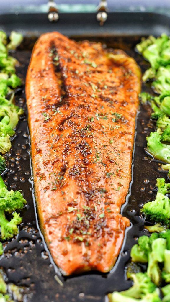 sheet pan trout