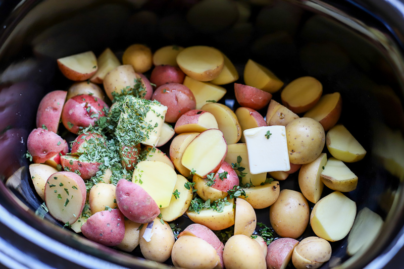 red potatoes in crock pot