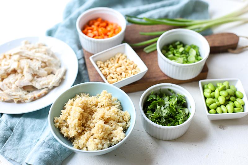 Ingredients for Thai Quinoa Bowls