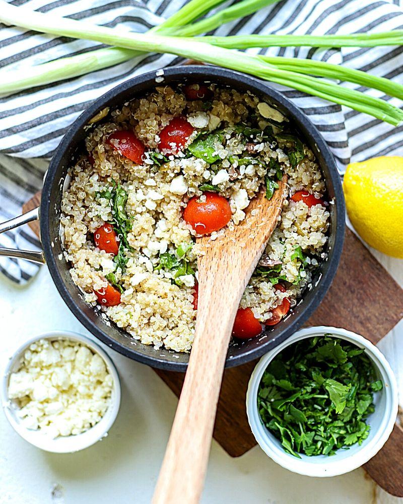 quinoa salad in a pot