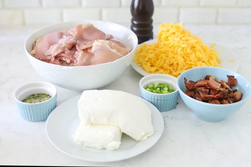 Ingredients for cream cheese chicken