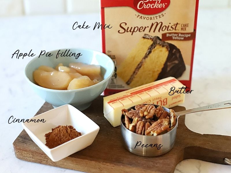 Ingredients for slow cooker apple cake
