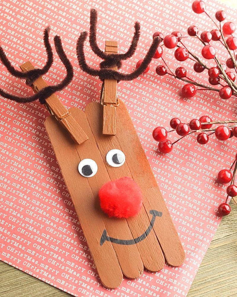 Reindeer Preschool Craft