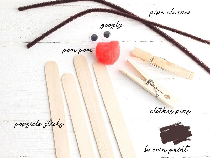 supplies for Christmas craft
