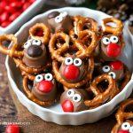 Easy Rolo Pretzel Reindeer