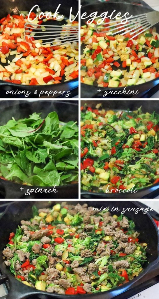 How to cook veggies for a frittata