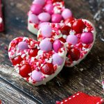 white chocolate valentine's day candies