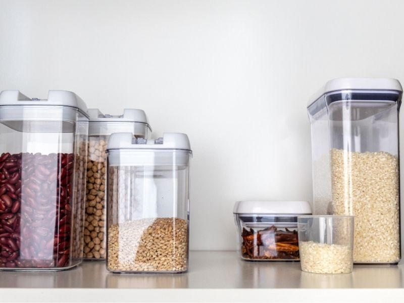 How to Organize a Pantry with easy. Great tips for storage ideas and how to make your system last once you organized it.