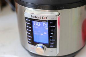 Instant Pot set to 15 minutes
