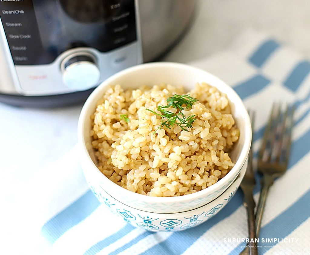Cooked Instant Pot Brown Rice