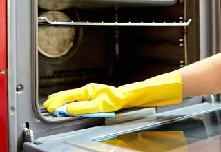 Cleaning the inside of an oven