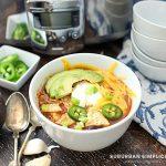 Easy Crockpot Chicken Enchilada Soup