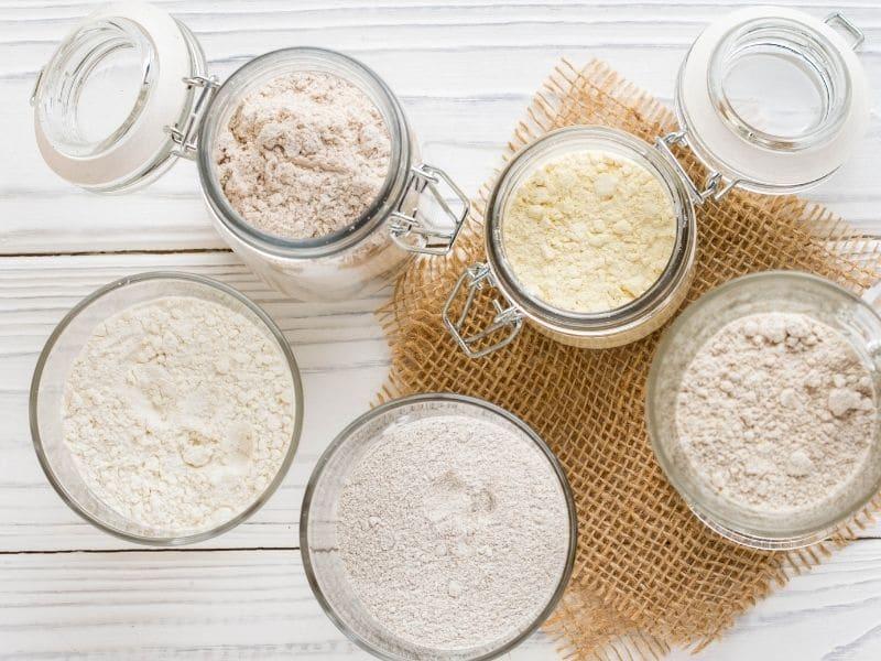 flour in storage jars