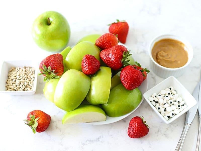 Ingredients to make monster apples