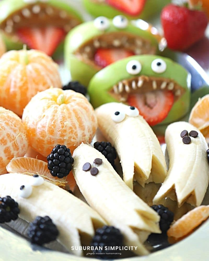 Banana ghosts on a serving plate