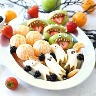 Halloween treats on a plate