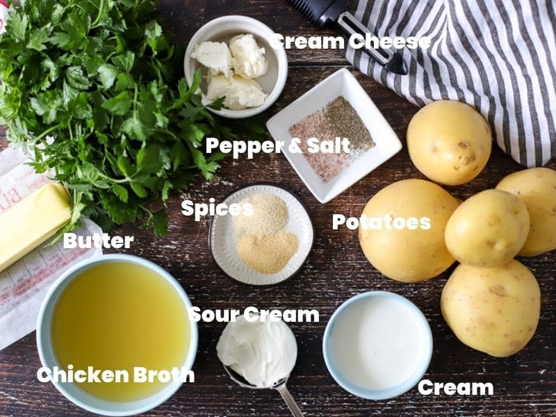 ingredients for slow cooked potatoes