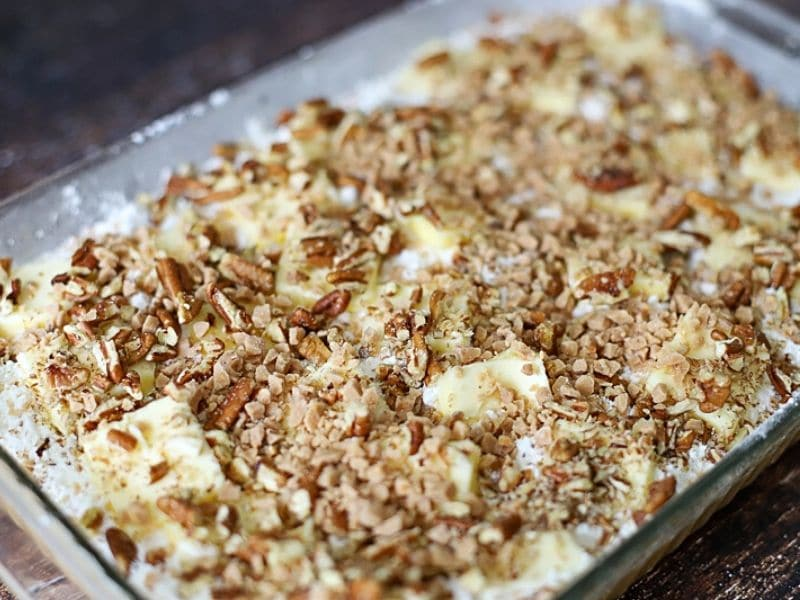Yellow cake mix with pecans